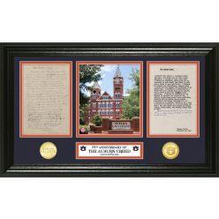 "Auburn University ""The Auburn Creed"" Panoramic Bronze Coin Photo Mint"