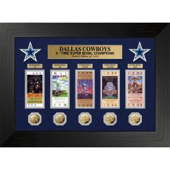 Dallas Cowboys 5 Time Super Bowl Champions Deluxe Gold Coin & Ticket Collection