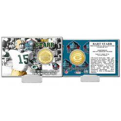 Bart Starr NFL HOF Bronze Coin Card
