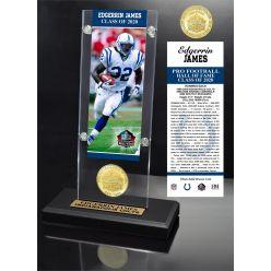 Edgerrin James 2020 HOF Bronze Coin Ticket Acrylic