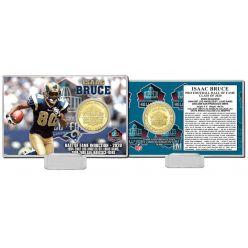 Isaac Bruce 2020 HOF Bronze Coin Card