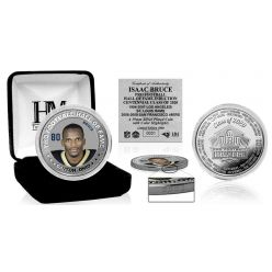 Isaac Bruce 2020 Hall of Fame Color Silver Coin