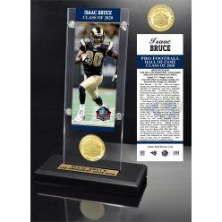 Isaac Bruce HOF Bronze Coin Ticket Acrylic