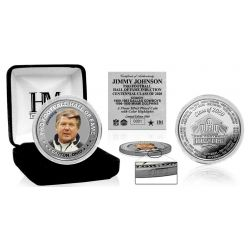 Jimmy Johnson HOF Centennial Class of 2020 Color Silver Coin
