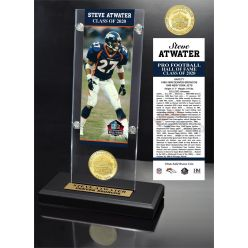 Steve Atwater 2020 HOF Bronze Coin Ticket Acrylic