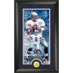 Troy Aikman 2006 Pro Football Hall of Fame Supreme Bronze Coin Photo Mint
