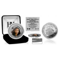 Troy Polamalu 2020 Hall of Fame Color Silver Coin