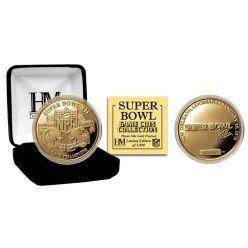 Super Bowl XII 24kt Gold Flip Coin