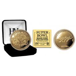 Super Bowl XIV 24kt Gold Flip Coin
