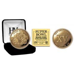 Super Bowl XV 24kt Gold Flip Coin