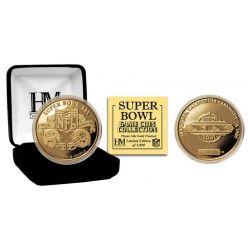 Super Bowl XIX 24kt Gold Flip Coin