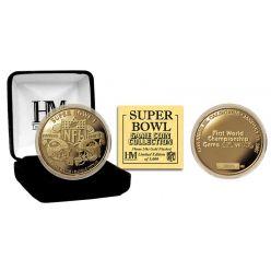 Super Bowl I 24kt Gold Flip Coin