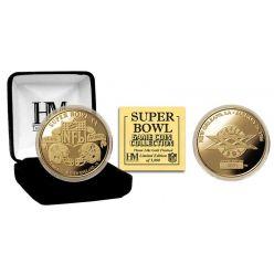 Super Bowl XX 24kt Gold Flip Coin