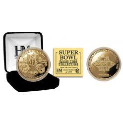 Super Bowl XXII 24kt Gold Flip Coin