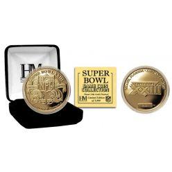 Super Bowl XXIII 24kt Gold Flip Coin