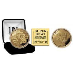 Super Bowl XXV 24kt Gold Flip Coin
