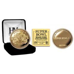 Super Bowl II 24kt Gold Flip Coin