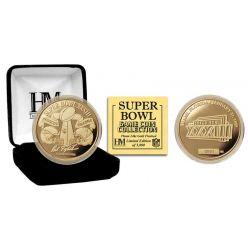 Super Bowl XXXIII 24kt Gold Flip Coin