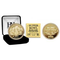 Super Bowl XXXIV 24kt Gold Flip Coin