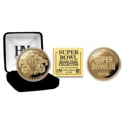 Super Bowl III 24kt Gold Flip Coin