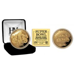 NFL Super Bowl XLI 24kt Gold Flip Coin
