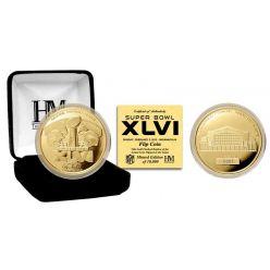 Super Bowl XLVI 24KT Gold Flip Coin