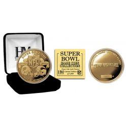 Super Bowl VIII 24kt Gold Flip Coin