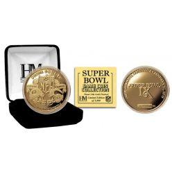 Super Bowl IX 24kt Gold Flip Coin