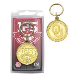 125th Anniversary Oklahoma Sooners Bronze Keychain