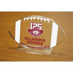125th Anniversary Oklahoma Sooners Etched Acrylic Football