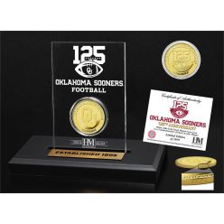 125th Anniversary Oklahoma Sooners Gold Coin Etched Acrylic