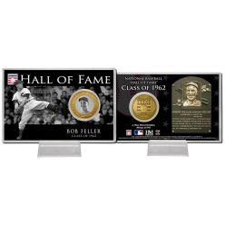 Bob Feller Class of 1962 Hall of Fame Bronze Coin Card