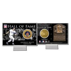 George Brett Class of 1999 Hall of Fame Bronze Coin Card