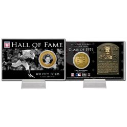 Whitey Ford Class of 1974 Hall of Fame Bronze Coin Card