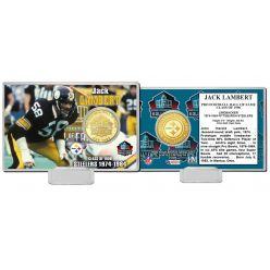 Jack Lambert NFL HOF Bronze Coin Card