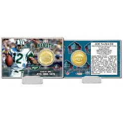 Joe Namath NFL HOF Bronze Coin Card