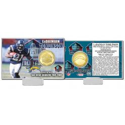 LaDanian Tomlinson 2017 Pro Football Hall of Fame Bronze Coin Card