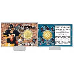 Terry Bradshaw NFL HOF Bronze Coin Card