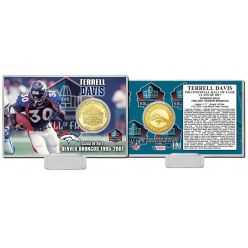 Terrell Davis 2017 Pro Football Hall of Fame Bronze Coin Card