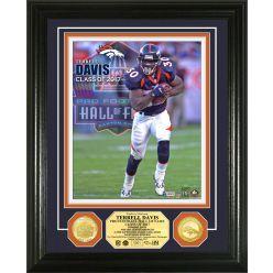 Terrell Davis 2017 Pro Football Hall of Fame bronze Coin Photo Mint