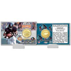 Walter Payton NFL HOF Bronze Coin Card