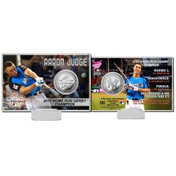 Aaron Judge 2017 Home Run Derby Champion Silver Coin Card