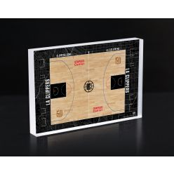 Los Angeles Clippers Court 3D Acrylic Block