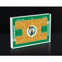 Boston Celtics Court 3D Acrylic Block