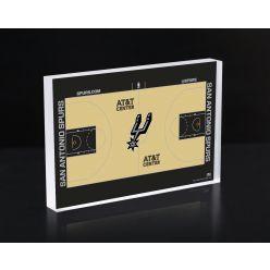 San Antonio Spurs Court 3D Acrylic Block