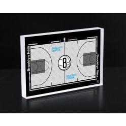Brooklyn Nets Court 3D Acrylic Block