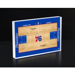 Philadelphia 76ers Court 3D Acrylic Block