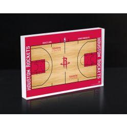 Houston Rockets Court 3D Acrylic Block