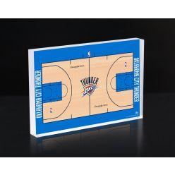 Oklahoma City Thunder Court 3D Acrylic Block