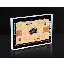 Memphis Grizzles Court Acrylic 3D Block